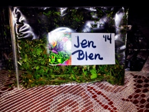 First packets of my custom herb mixture, Jen Blen, processed for season 2014