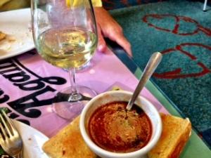Gazpacho at Bonnie Blue Café