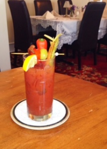 A loaded Bloody Mary at the Kilmarnock Inn