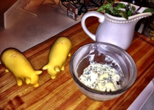 Compound Butter made with fresh herbs