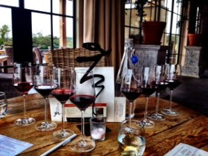 Our Wine Flights at Early Mountain après la tasting