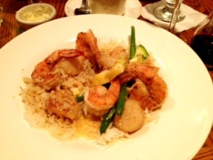 Cajun Shrimp with Basmati Rice....Scallops added