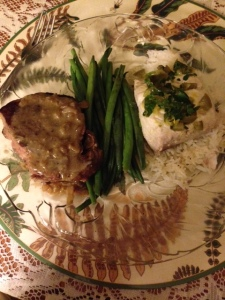 The published fish recipe calls for Halibut. The Mahi-Mahi worked just as well...I've tried both.