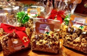 Granola Gifts for my Office. Double the recipe made 20 bags!