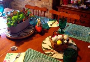 A Lettuce Centerpiece confirmed we were having a Springtime Brunch indeed