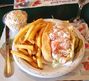 Behold! A succulent Lobster Roll from Petey's in Rye, New Hampshire
