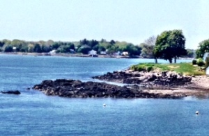 The rocky beach of Kittery Maine