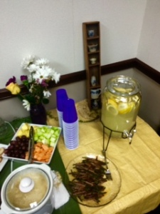 Just part of the tablescape at my retirement reception