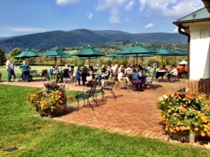 Probably my favorite, the patio at King Family near Charlottesville. Gorgeous!