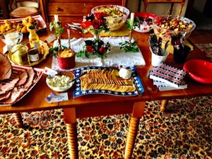 """The """"Southern Picnic"""" themed table at my retirement celebration"""