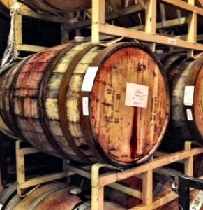 At Michael Shaps Wineworks near Charlottesville you taste amongst the barrels!
