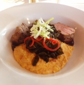 Sweet-Tea Brined Pork Tenderloin with Pimento Cheese Grits