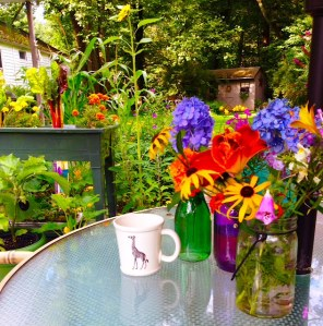 Morning with a cup of Tea is the best time to garden!