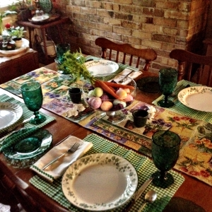 The Easter Tablescape this year