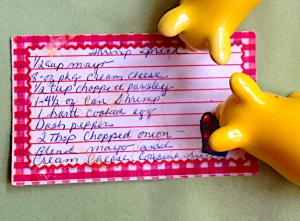 Well used recipe card as you can see
