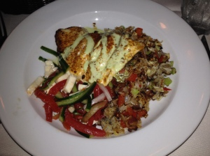 Local Flounder atop Crispy Fried Rice from Elizabeth's on 37th.